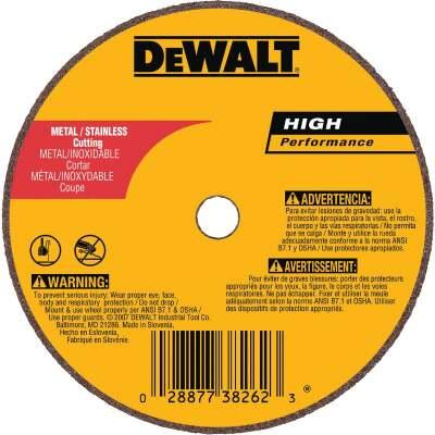 DeWalt HP Type 1 3 In. x 1/16 In. x 3/8 In. Metal/Stainless Cut-Off Wheel