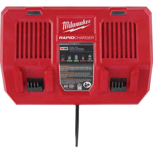 Milwaukee M18 18 Volt Lithium-Ion Dual Bay Simultaneous Rapid Battery Charger