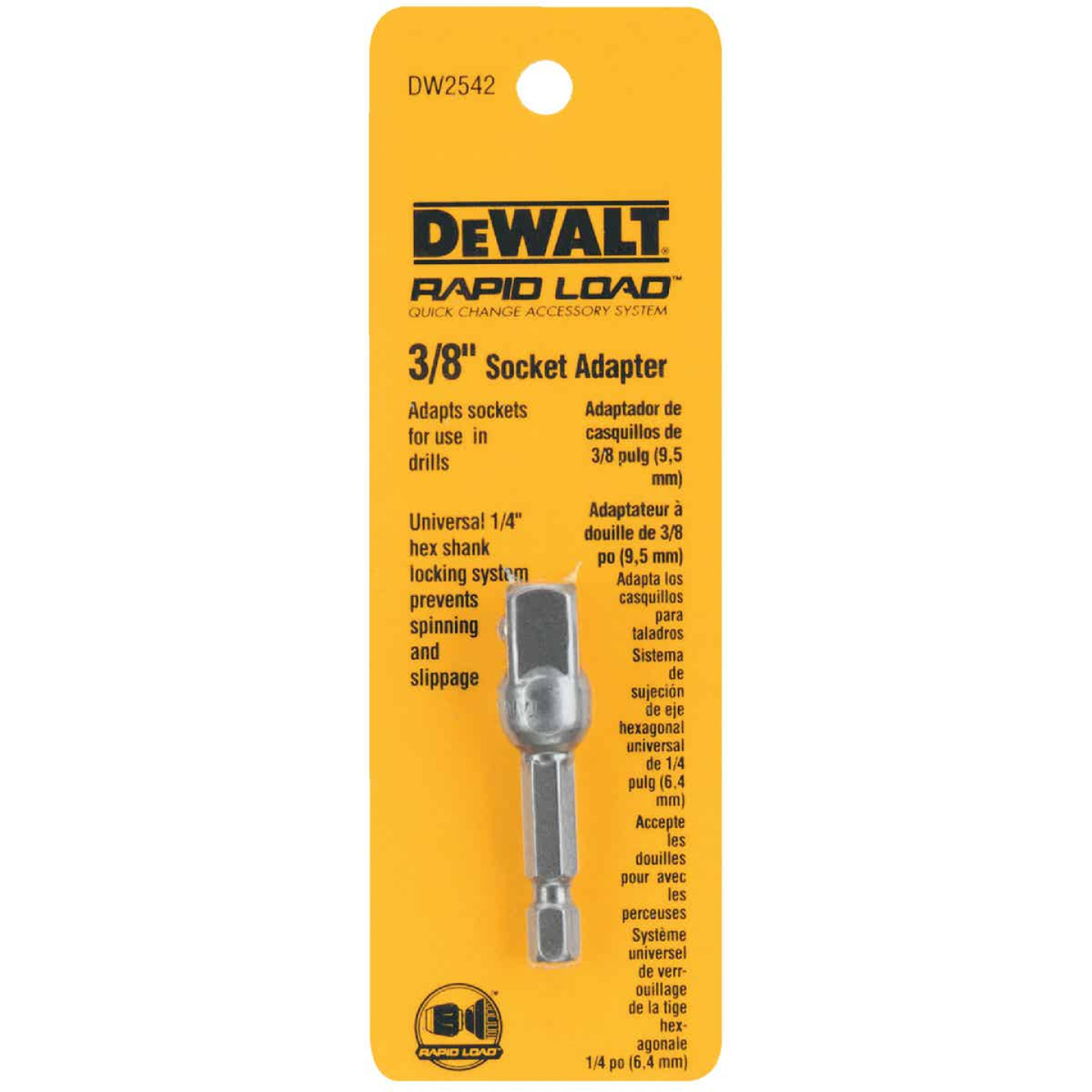 DeWalt 3/8 In. Square 2 In. L. Socket Adapter Image 2