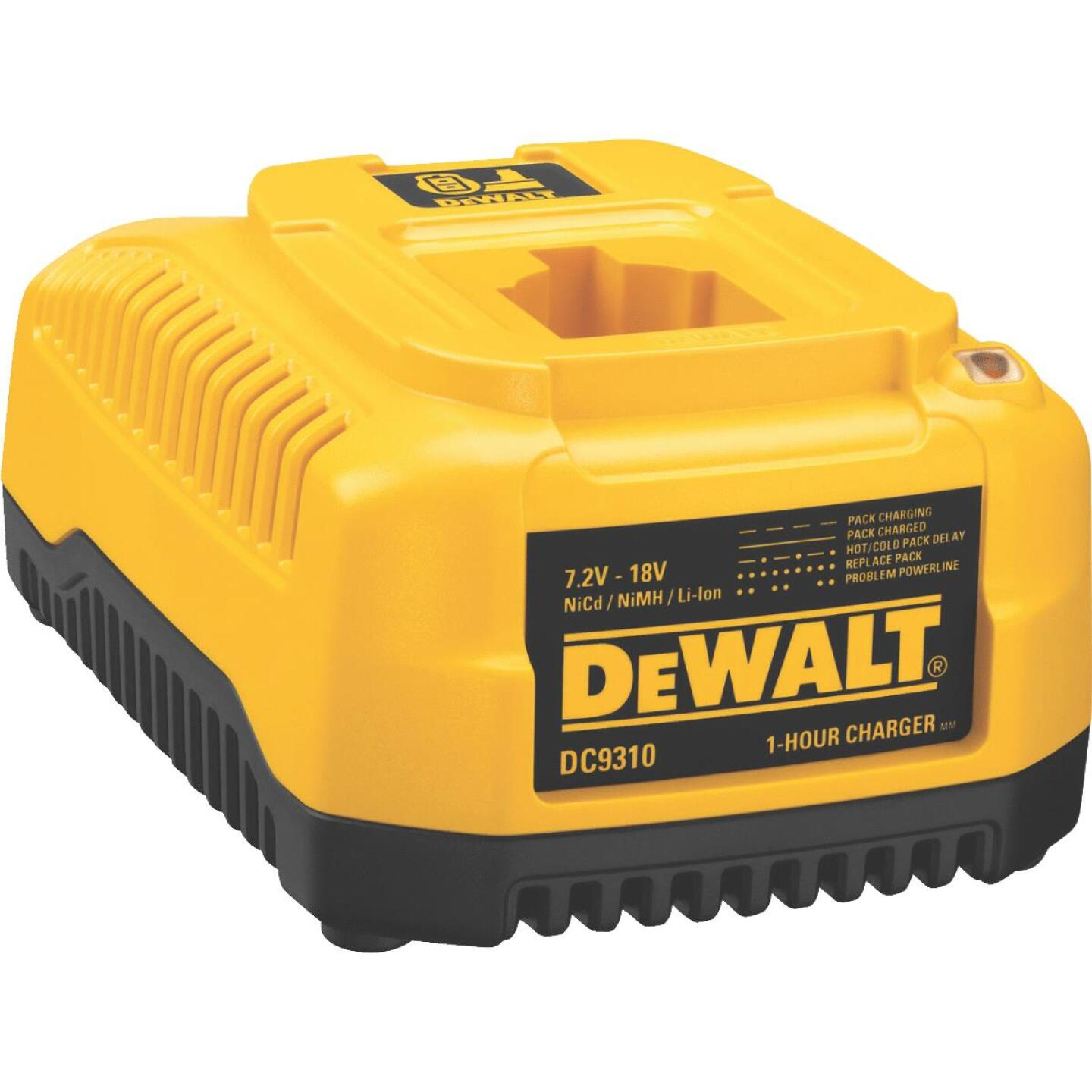 DeWalt 7.2-Volt to 18-Volt Nickel-Cadmium/Nickel-Metal Hydride/Lithium-Ion Fast Battery Charger Image 1