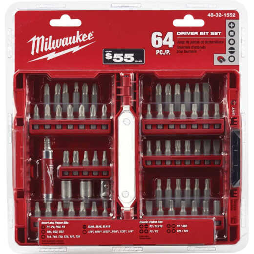 Milwaukee 64-Piece Standard Screwdriver Bit Set