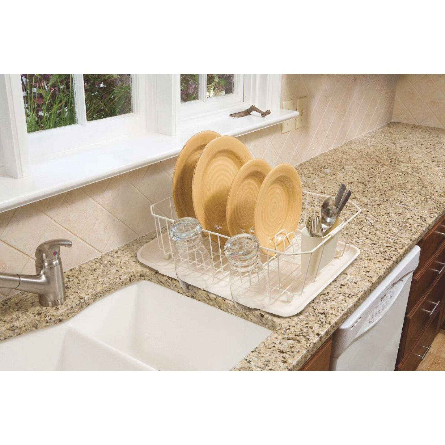 Rubbermaid 13.81 In. x 17.62 In. Bisque Wire Sink Dish Drainer Image 3